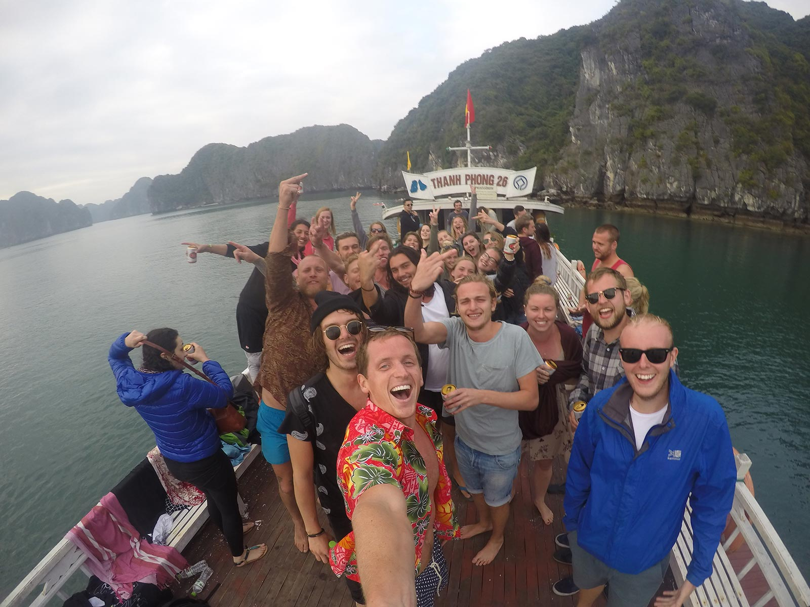 Castaway cruise with David Simpson and friends in Ha Long Bay, Vietnam. The greatest party cruise in the world