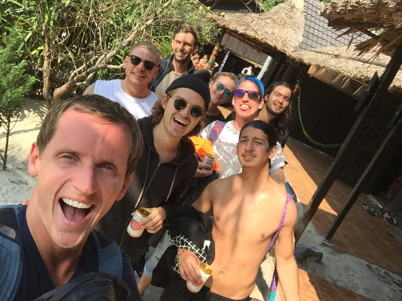 David Simpson and friends in Ha Long Bay, Vietnam. Everyone's worst travel nightmare happened today