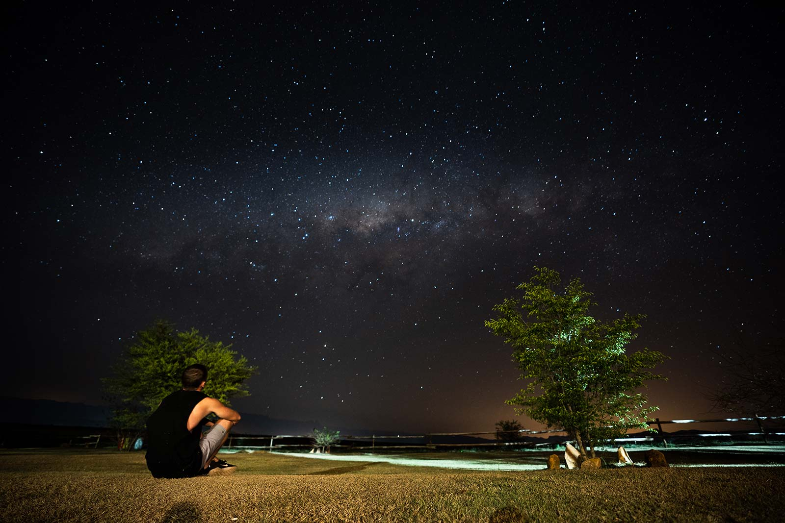 David Simpson viewing the night sky in Lesotho, Africa. The greatest hike on Earth?