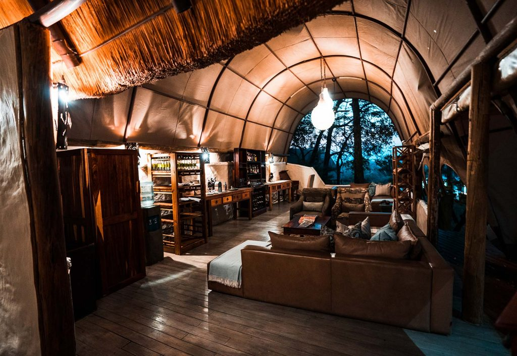 Accommodation in Botswana, Africa. An owl and African sunsets