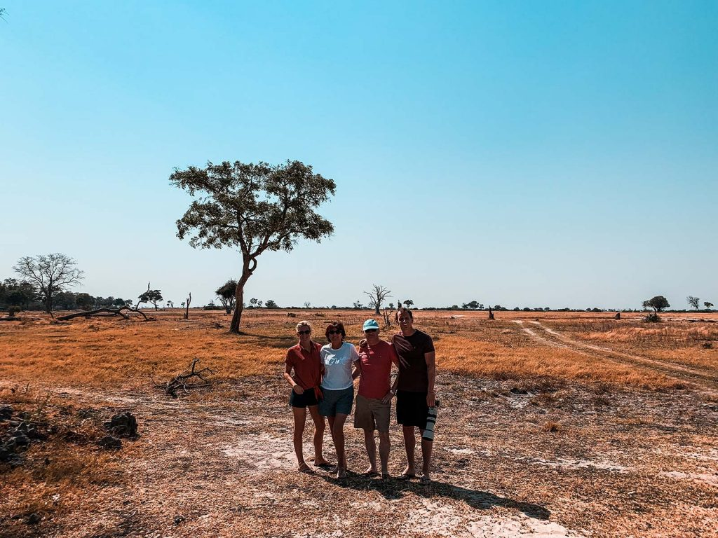 David Simpson and family in Botswana, Africa. An owl and African sunsets