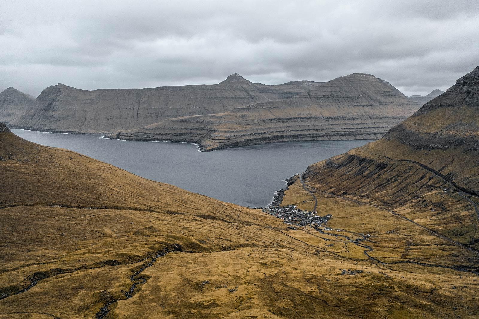 Villingdalsfjall in Faroe Islands. Getting blown off Mt Villingardalsfjall