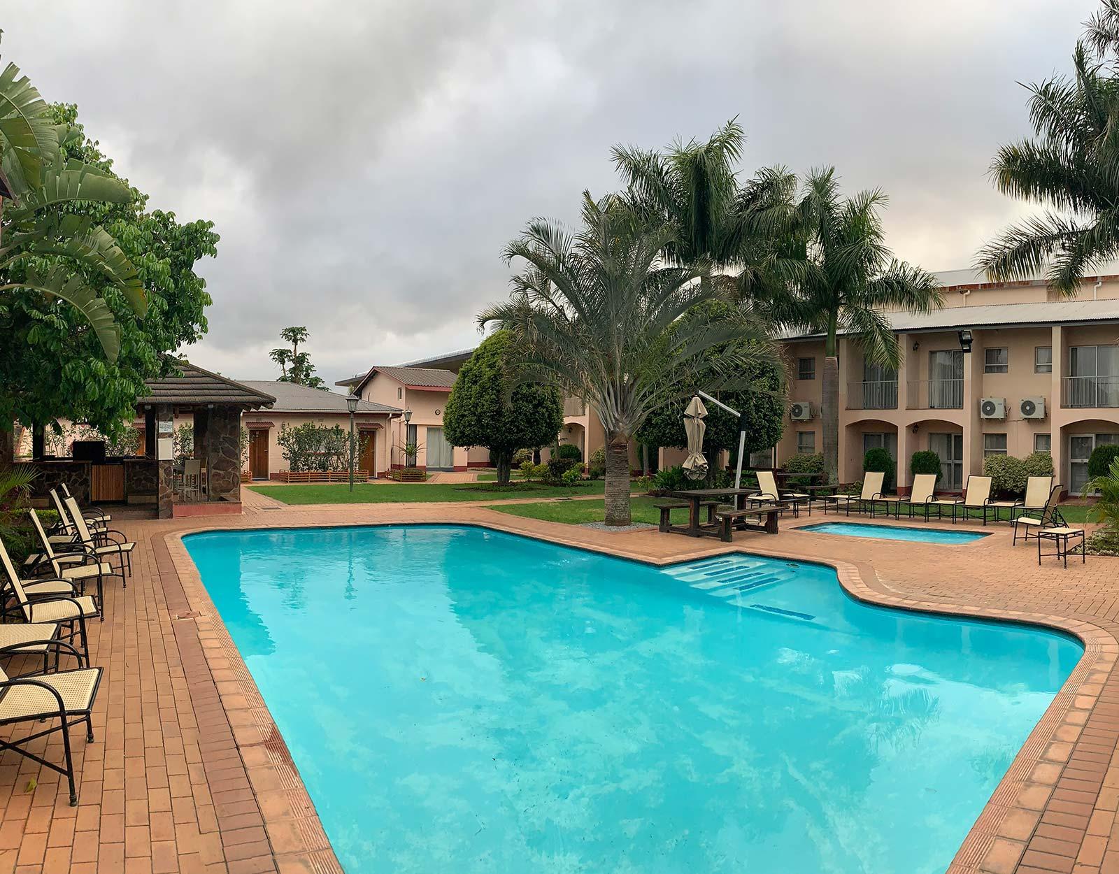 Swimming pool in Manzini, Eswatini. The £4 bus that cost me £700