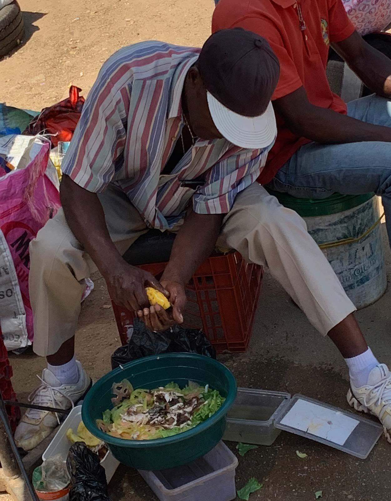 Local vendor in Manzini, Eswatini. The £4 bus that cost me £700