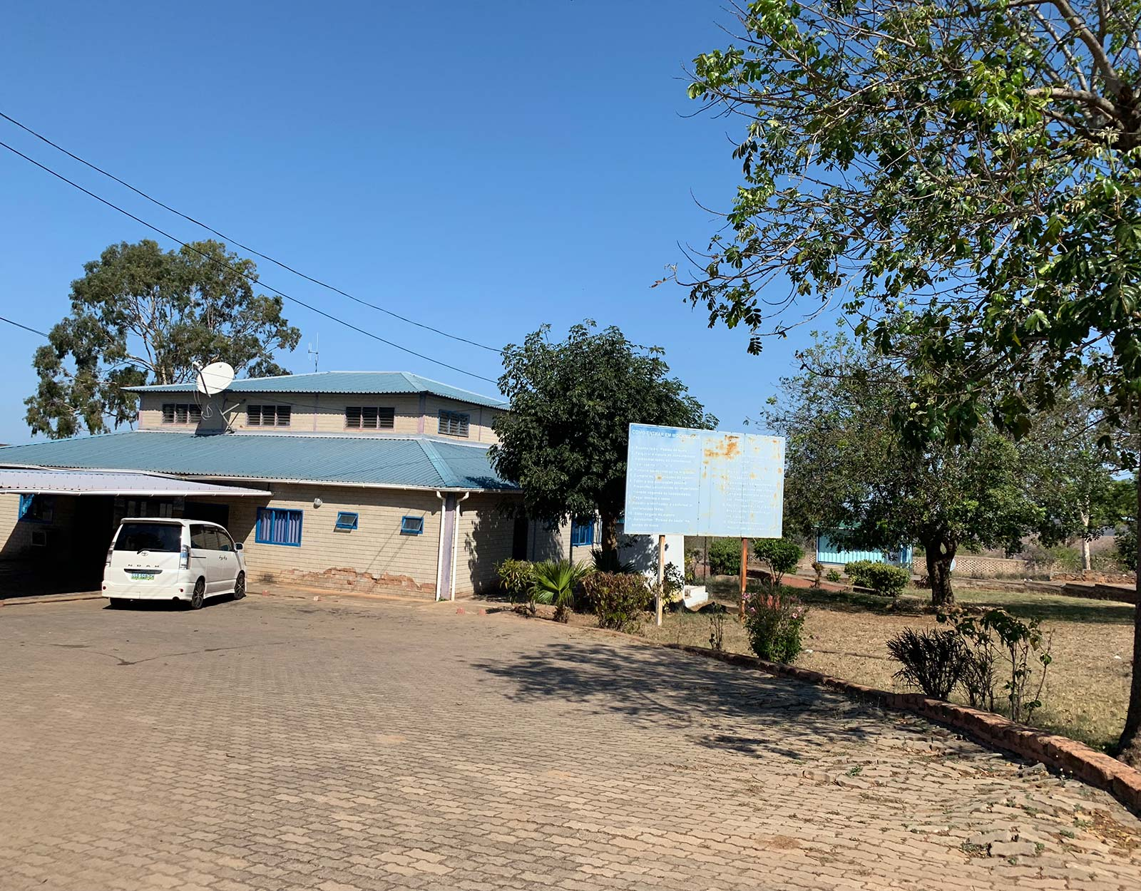 Customs office in Manzini, Eswatini. The £4 bus that cost me £700