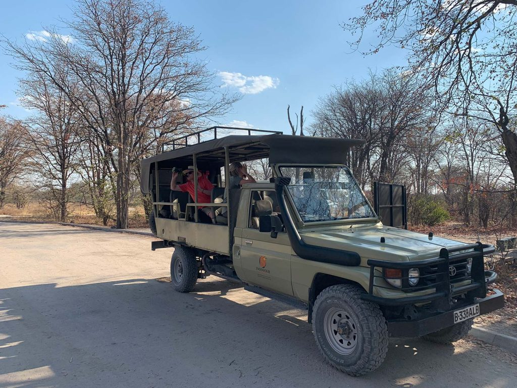 Road trip in Botswana, Africa. Sh*ting next to an elephant