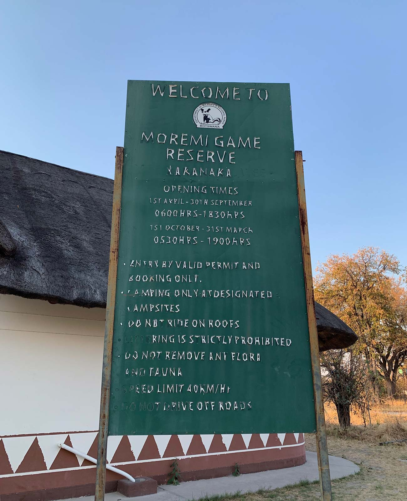 Rules while staying at game reserve in Botswana, Africa. Sh*ting next to an elephant