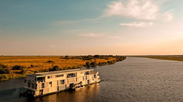 Zambezi Queen at Zambezi River in Botswana, Africa. The hunt for 100 trillion dollars