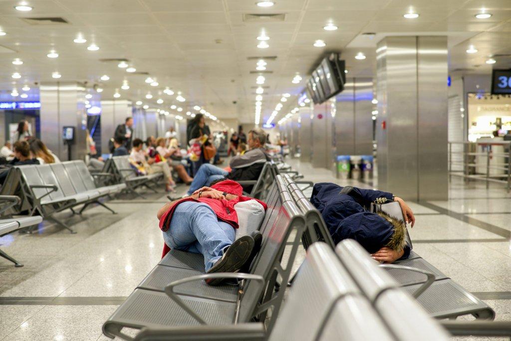 PEOPLE SLEEPING IN AIRPORTS