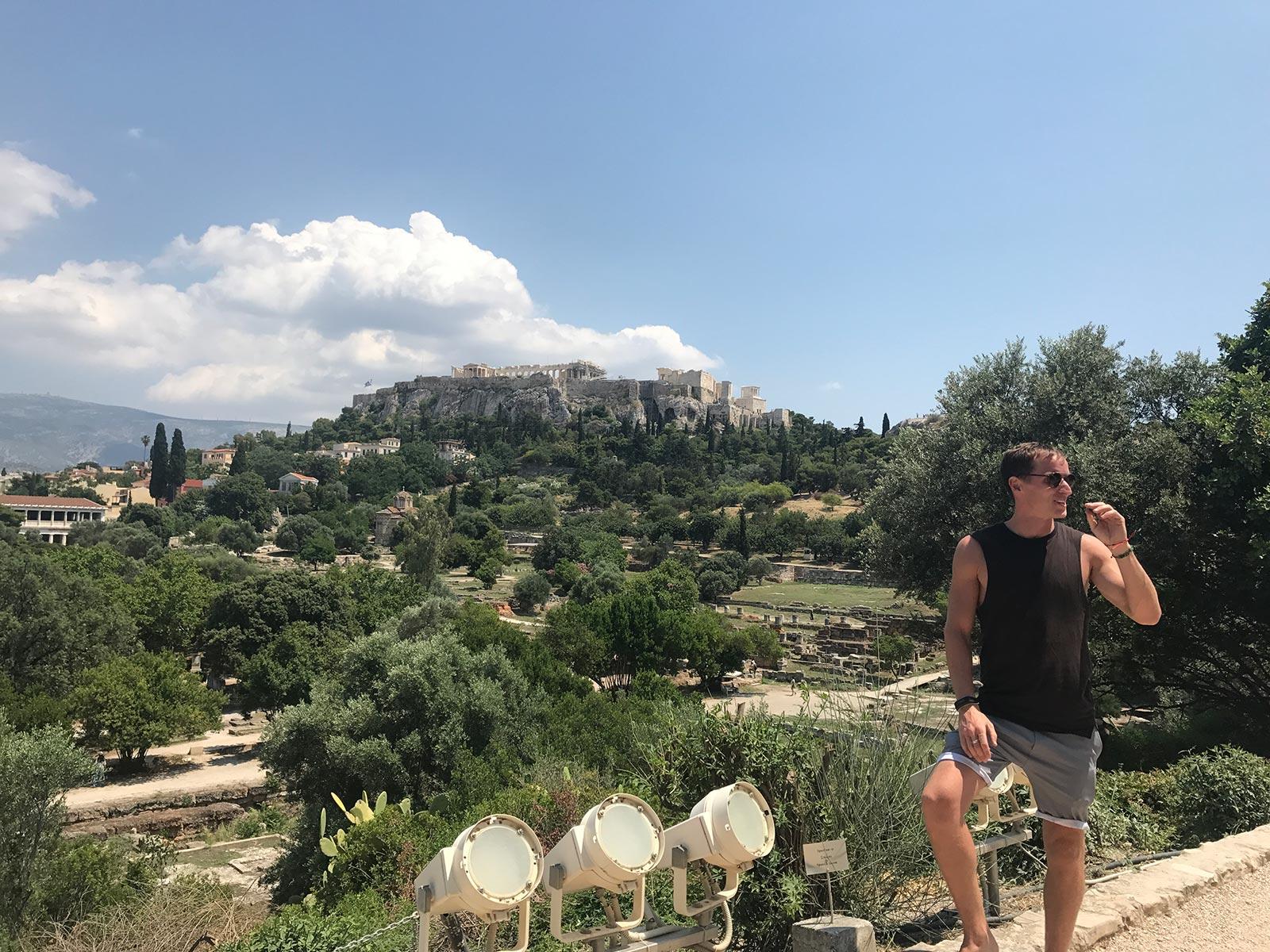David Simpson at Ancient Agora in Athens, Greece. Athens has me