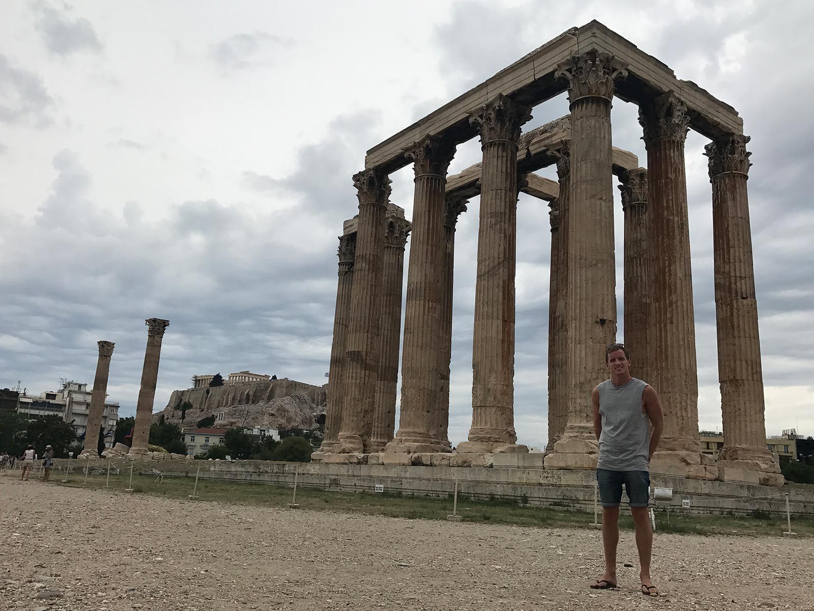 David Simpson at Temple of Zeus in Athens, Greece. Athens has me