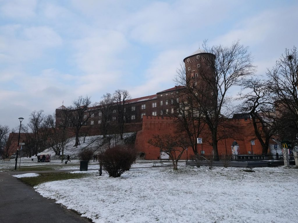 Royal Castle and Cathedral in Krakow, Poland. Cold walks and Polish food in Krakow