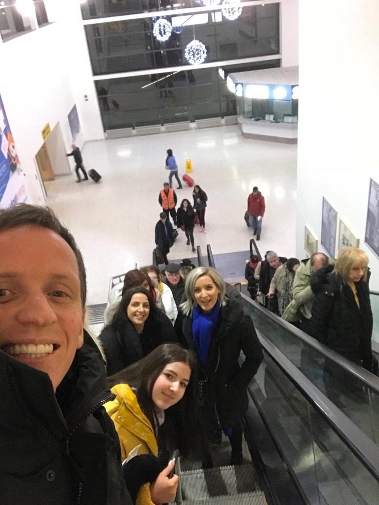 David Simpson and family in Krakow, Poland. Cold walks and Polish food in Krakow